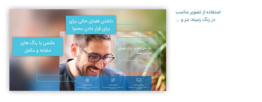استفاده از عکس مناسب در طراحی وب